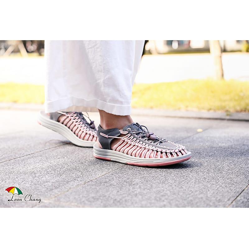 【Leon Chang】【LC雨傘】 編織運動涼鞋 6