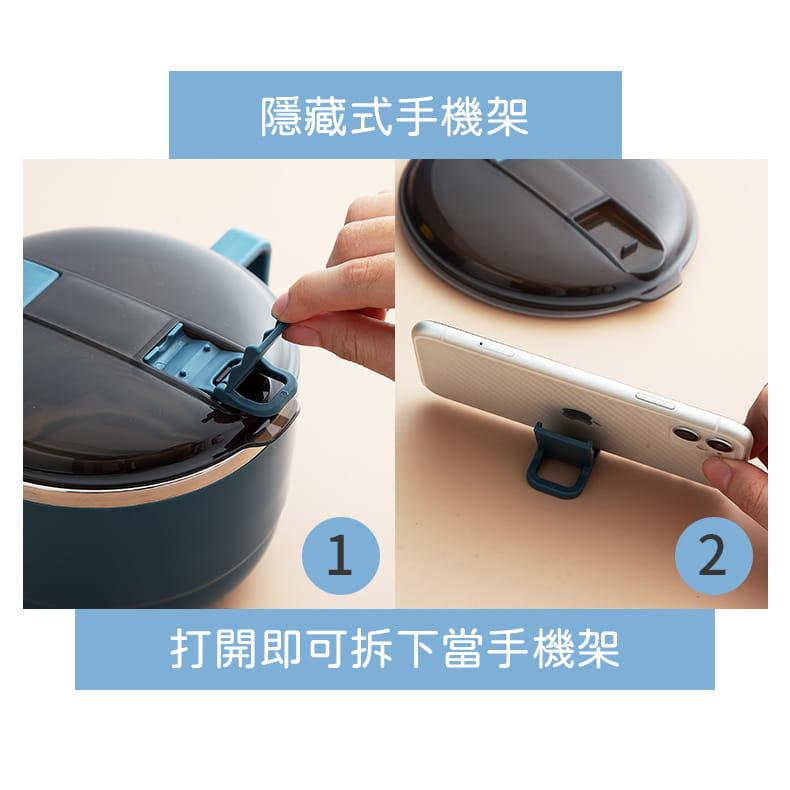 【1300ml】304不鏽鋼泡麵碗 蓋子可瀝水 蓋子可當手機架 SG9139泡麵碗 304不鏽鋼碗 9