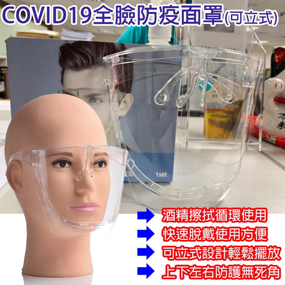 【JAR嚴選】COVID19全臉防疫面罩 0