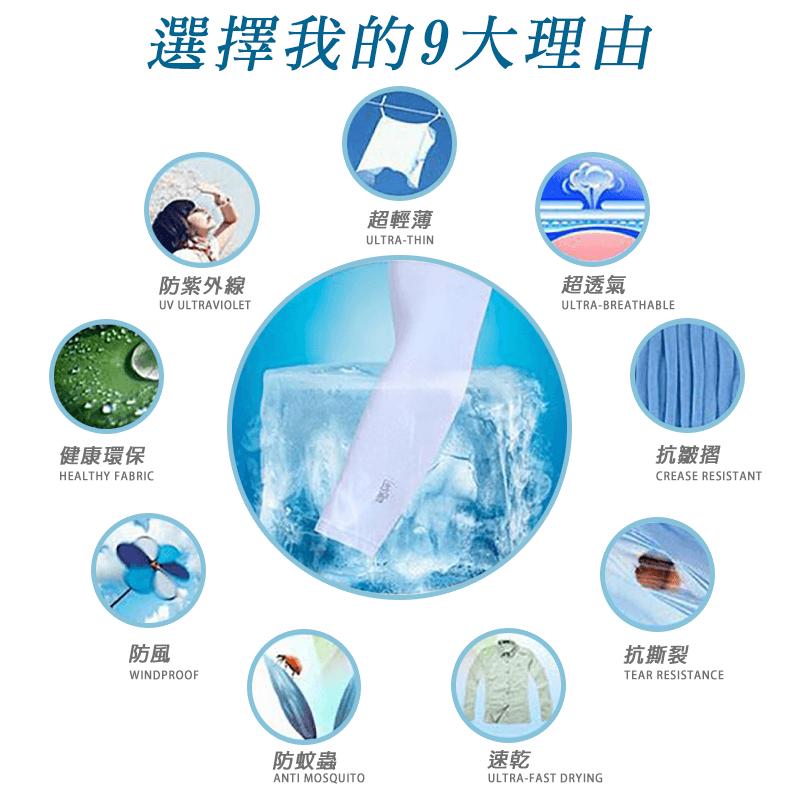 AQUA-X冰絲防曬袖套(無指款) 3