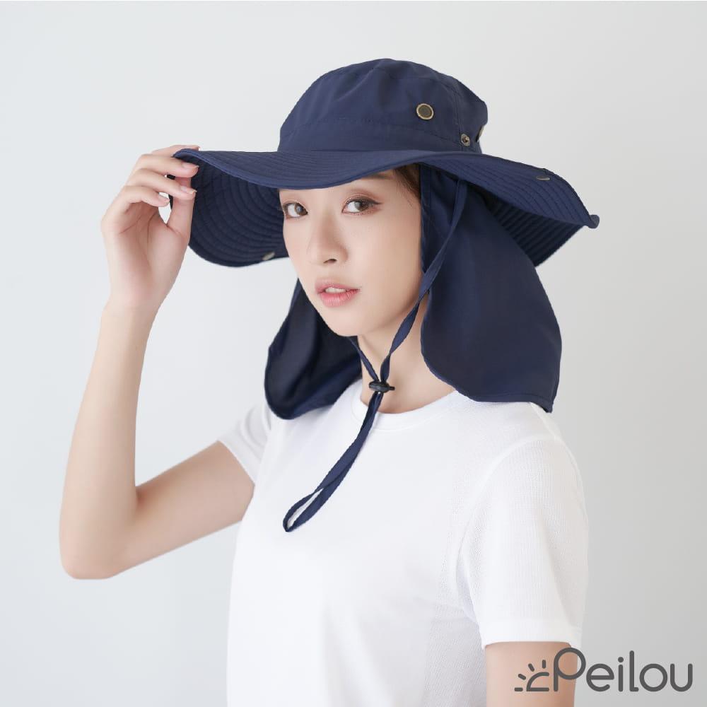 【Peilou】UPF50+多功能休閒遮陽帽-男女款 0