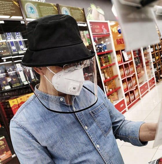 【台灣現貨】防護帽 防飛沫帽 透明面罩  飛沫阻擋 防護面罩  隔離唾沫 防疫用品 3