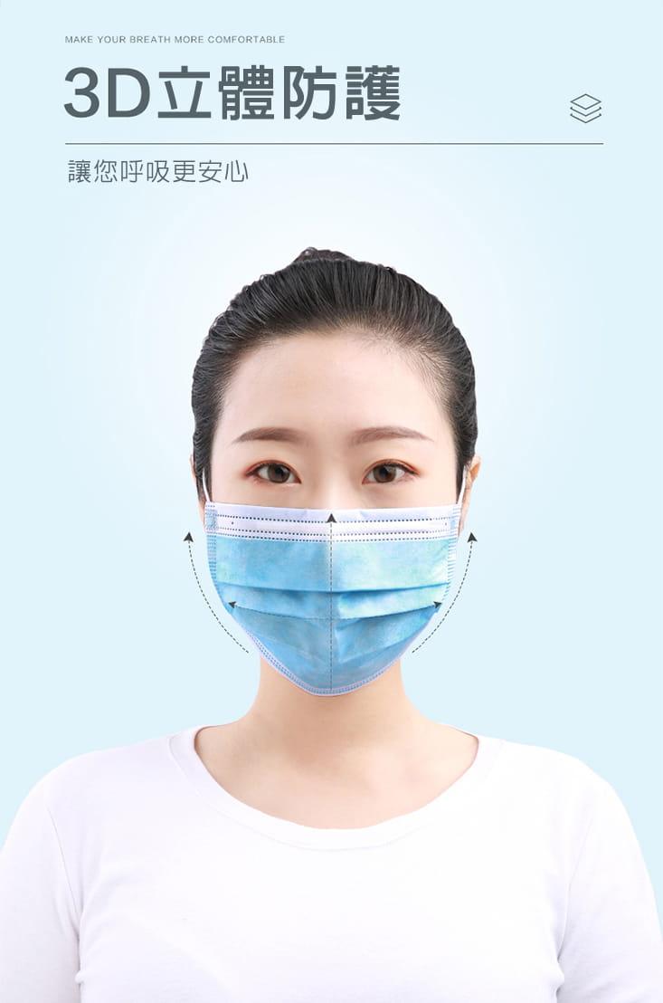 【英才星】非醫療成人兒童三層加厚口罩(粉藍/粉紅任選) 2