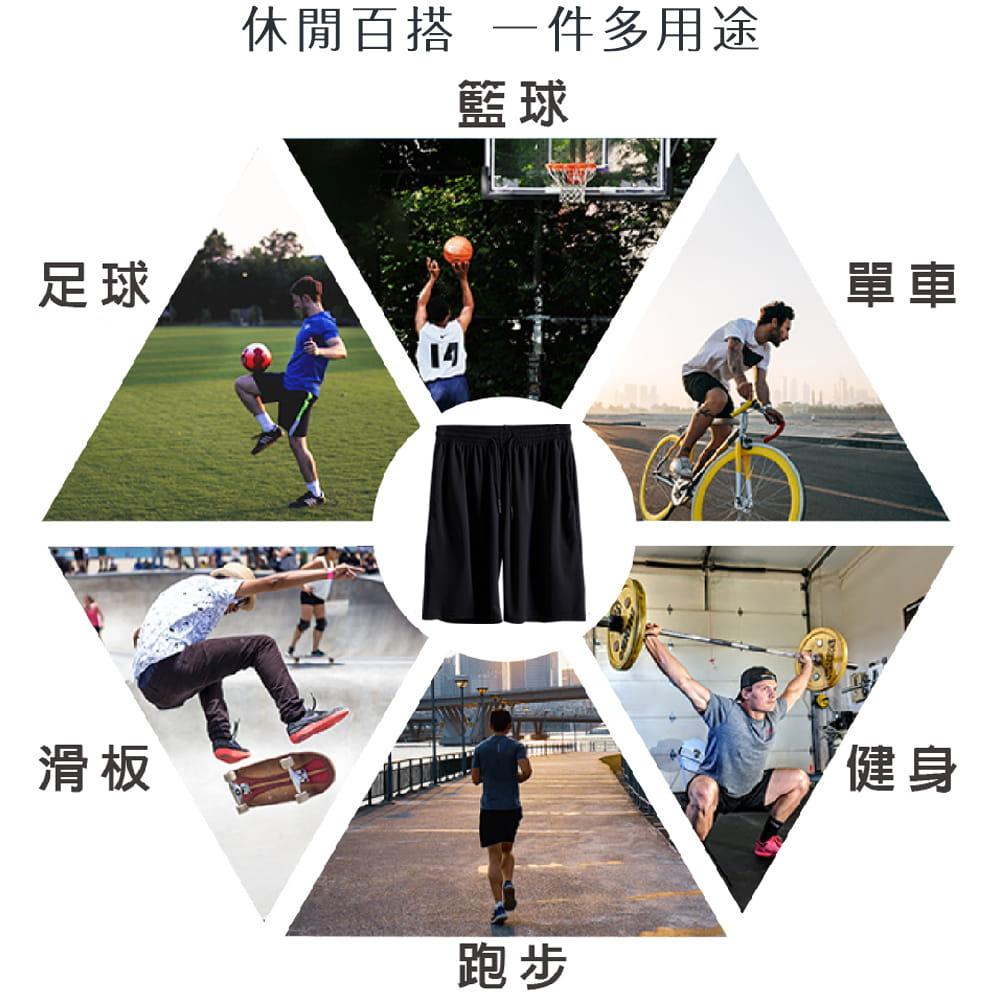【NEW FORCE】冰涼超透氣抽繩彈性男運動短褲-2色可選 3