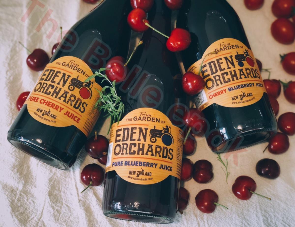 紐西蘭進口-伊甸莊園100%櫻桃汁,100%藍莓汁,綜合果汁 果汁飲料運動補給 夏天 養顏美容 4