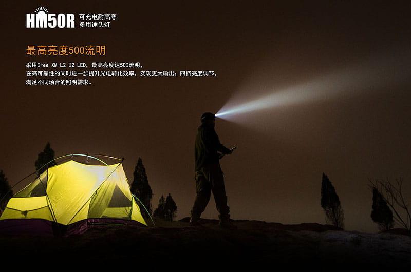 FENIX HM50R可充電耐高寒多用途頭燈 戶外露營夜遊.雪地登山照明  【AH07199】 10
