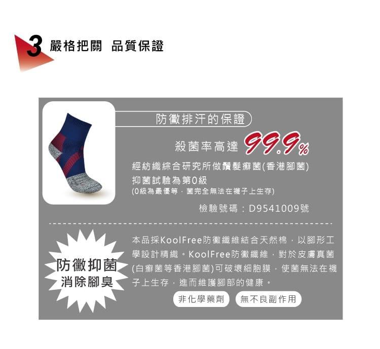 【旅行家】防黴排汗加壓護踝籃球襪 5