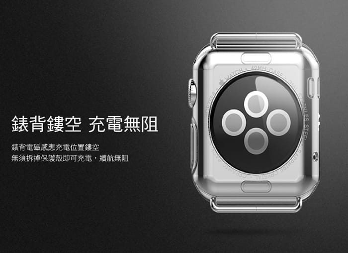 AdpE Apple Watch 3/4/5/6/SE 專用 透明邊框保護殼套 4