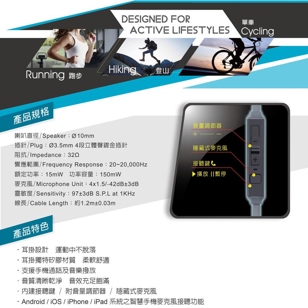 【E-books】S34  運動型音控接聽氣密耳機 2