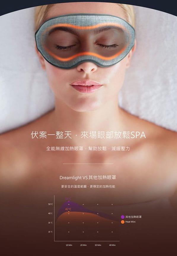 DREAMLIGHT – HEAT MINI 全遮光溫感助眠熱敷眼罩