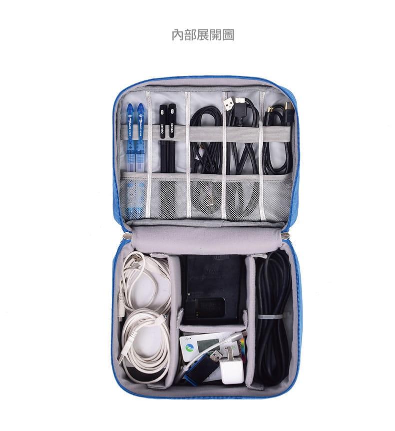 旅行防震防潑水耐磨3C線材收納包 立體空間配件收納袋 1