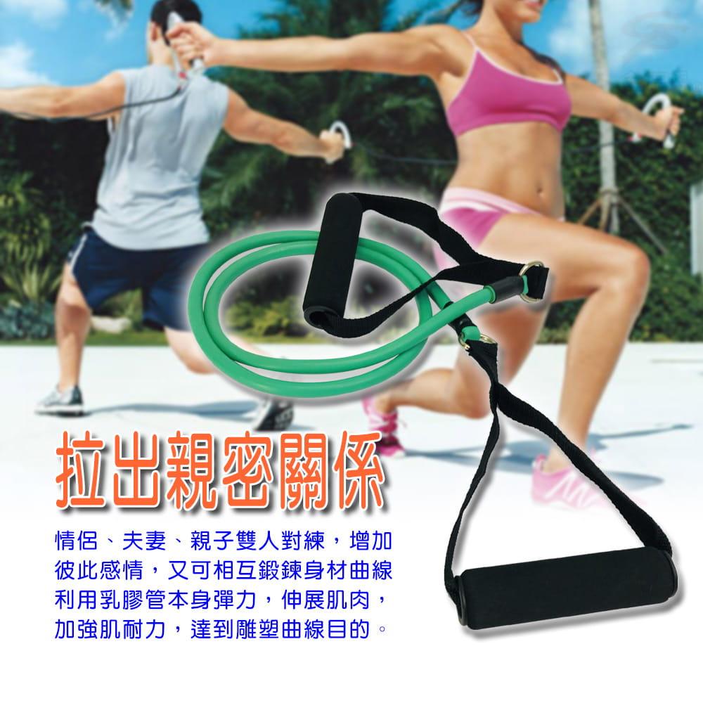 【金德恩】MIT 健美王之臂力訓練單管彈性瑜珈阻力拉繩 9