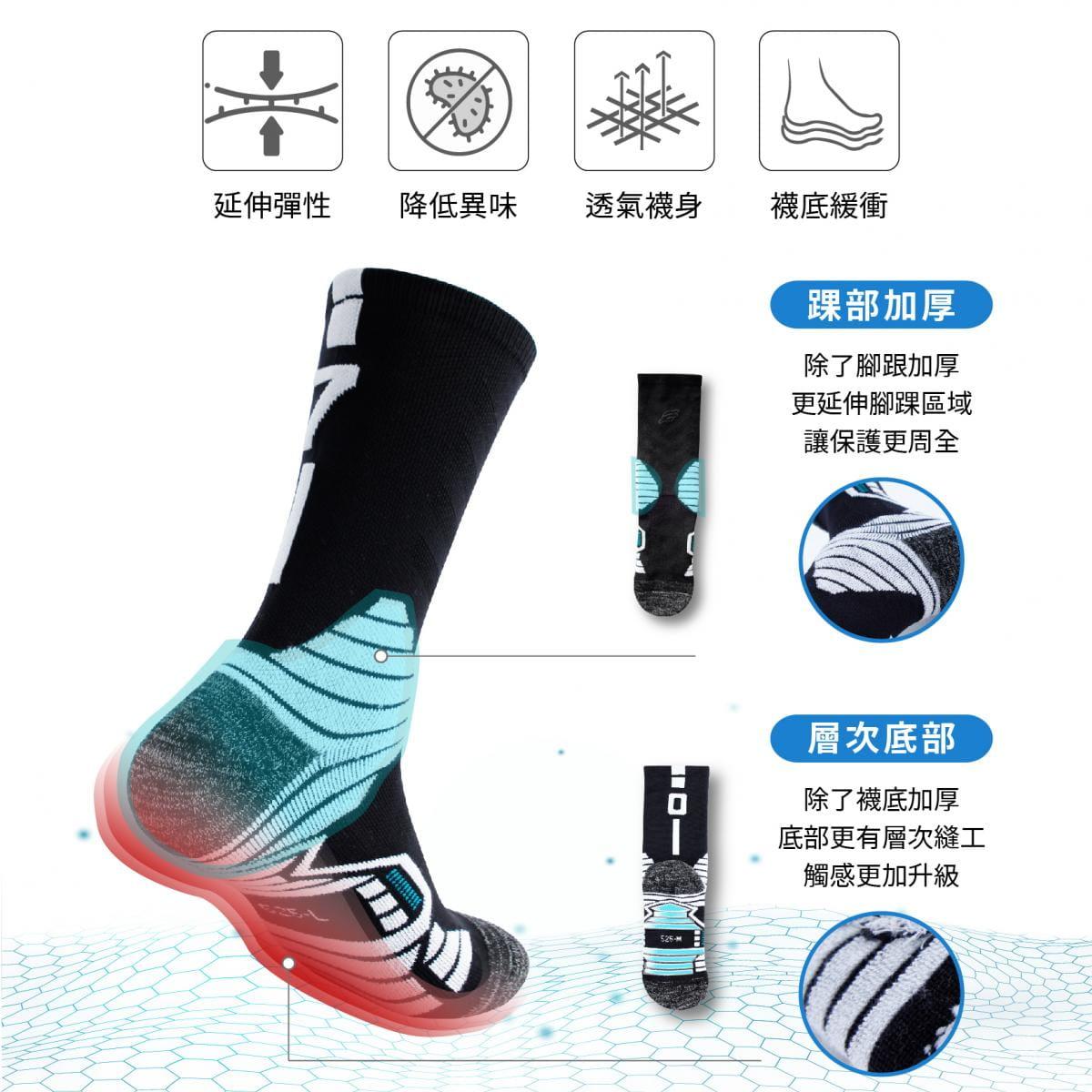 【FAV】運動加大除臭數字襪(單隻販售) 2