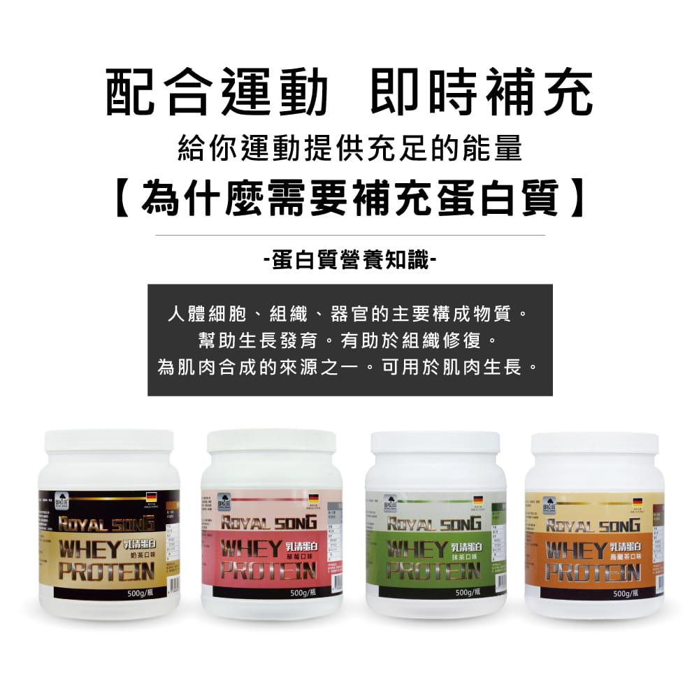 【Royal Song御松田】御松田-乳清蛋白調味系列-奶茶/草莓/抹茶/烏龍茶(500g/瓶) 3