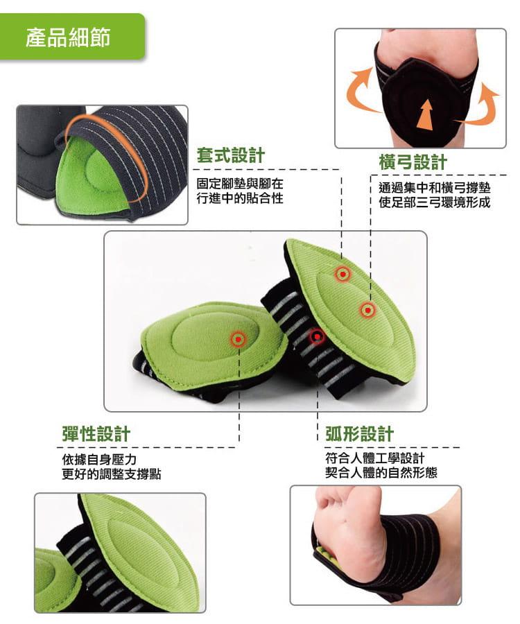 足體工學足弓減壓記憶墊(單支) 高足弓墊 1