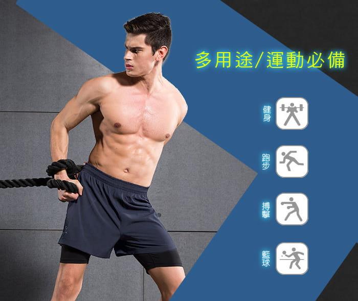 【Un-Sport高機能】專業吸排男用緊身五分褲-超值二入組(路跑/健身/籃球) 3
