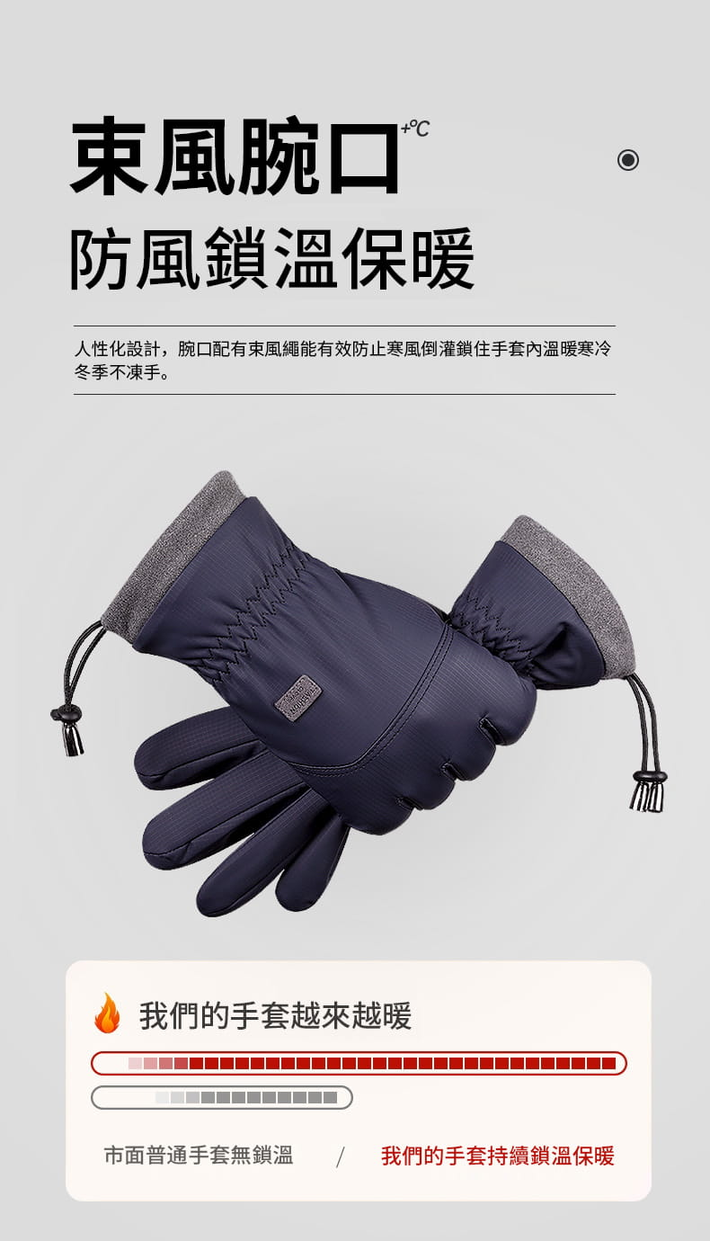 秋冬騎行防風防水加絨保暖手套 4