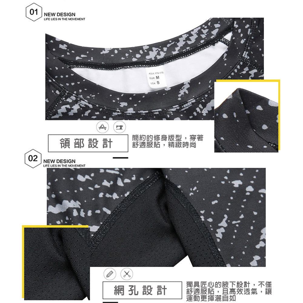 【NEW FORCE】彈力長袖混色速乾排汗衣-2色可選 6