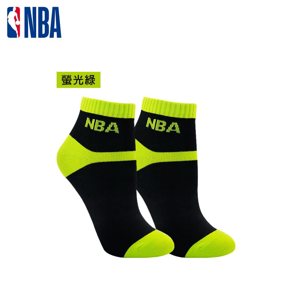 【NBA】 女款百搭平板緹花短襪 1