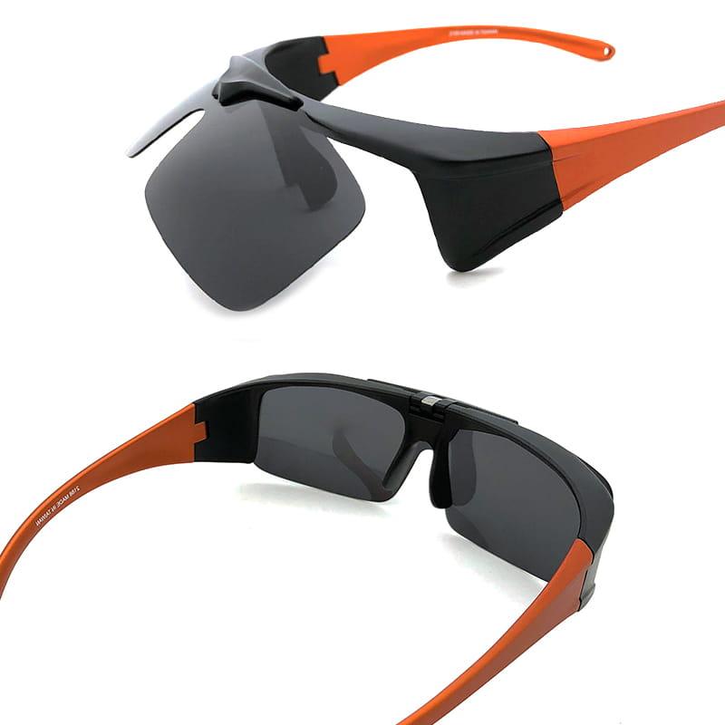 運動休閒上翻式偏光太陽眼鏡 (可套鏡) 6