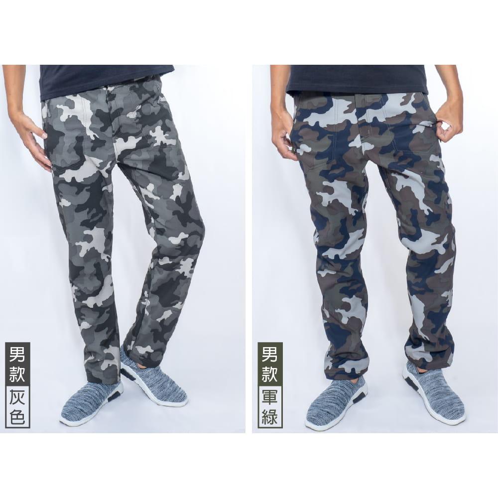 【NEW FORCE】迷彩戶外機能保暖衝鋒褲-男女款 8