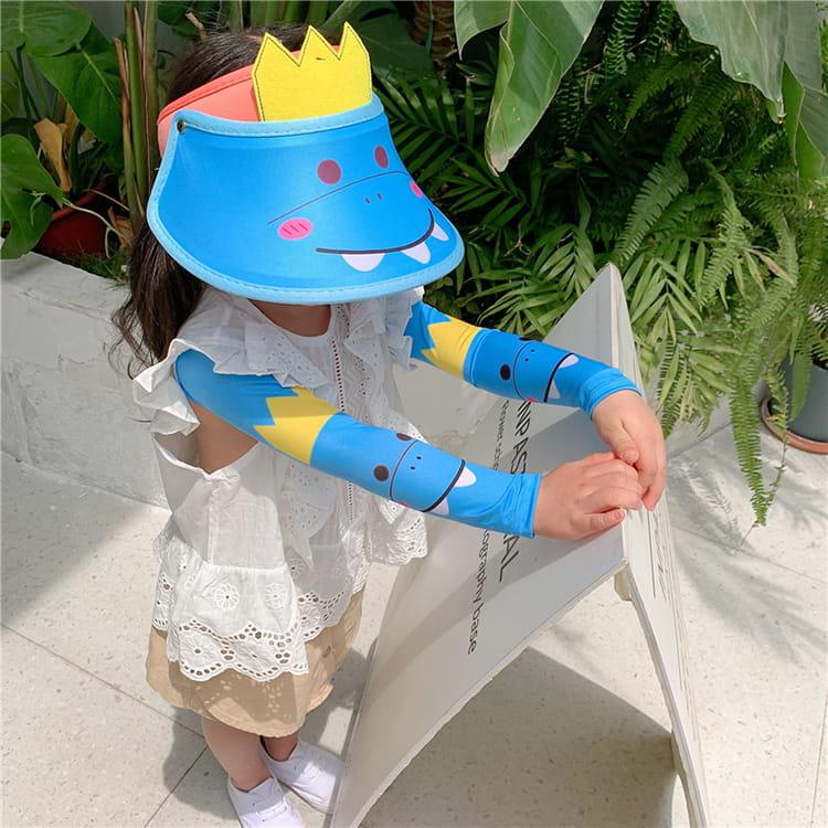 【JAR嚴選】兒童涼感防曬遮陽帽 (送袖套) 18