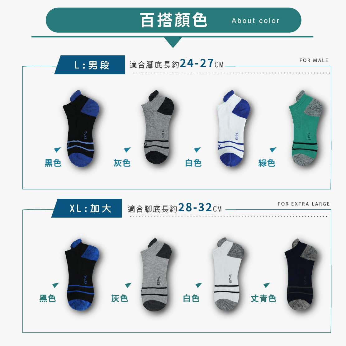 【FAV】後跟防磨除臭男女運動短襪 7