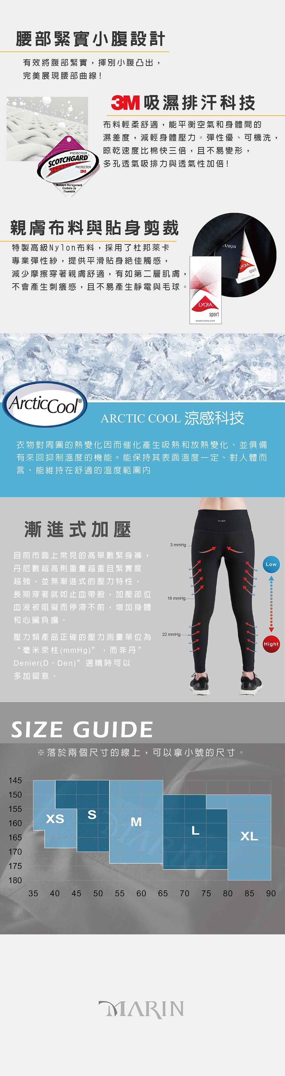 【MARIN】台灣製-重壓縮壓力褲 3
