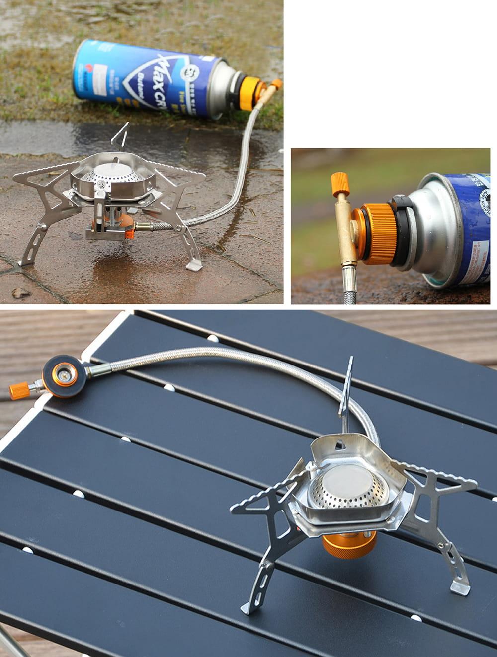 【抗強風款 登山 野炊爐】送轉接器 烤肉架 露營 野餐 瓦斯爐 卡式瓦斯爐 高山爐 8