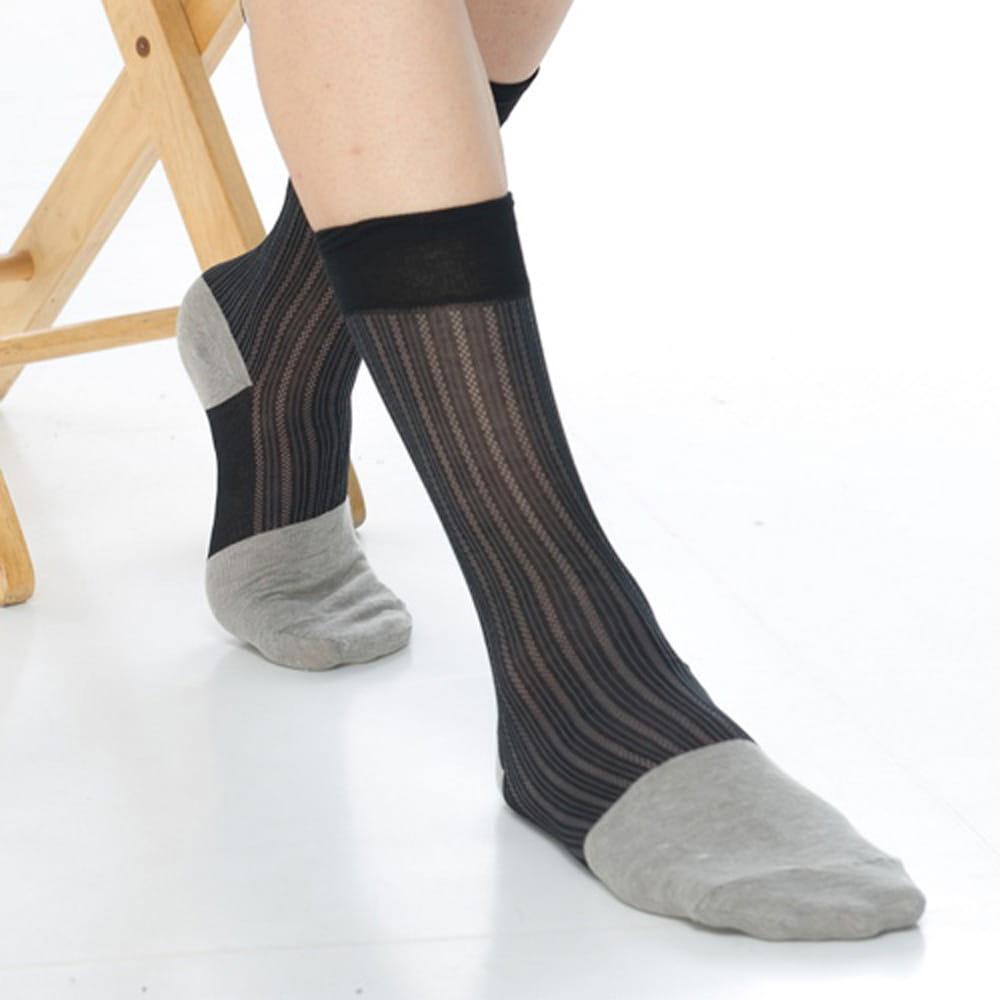 【KEROPPA可諾帕】奈米竹炭絲光棉紳士男襪x2雙C90007 0