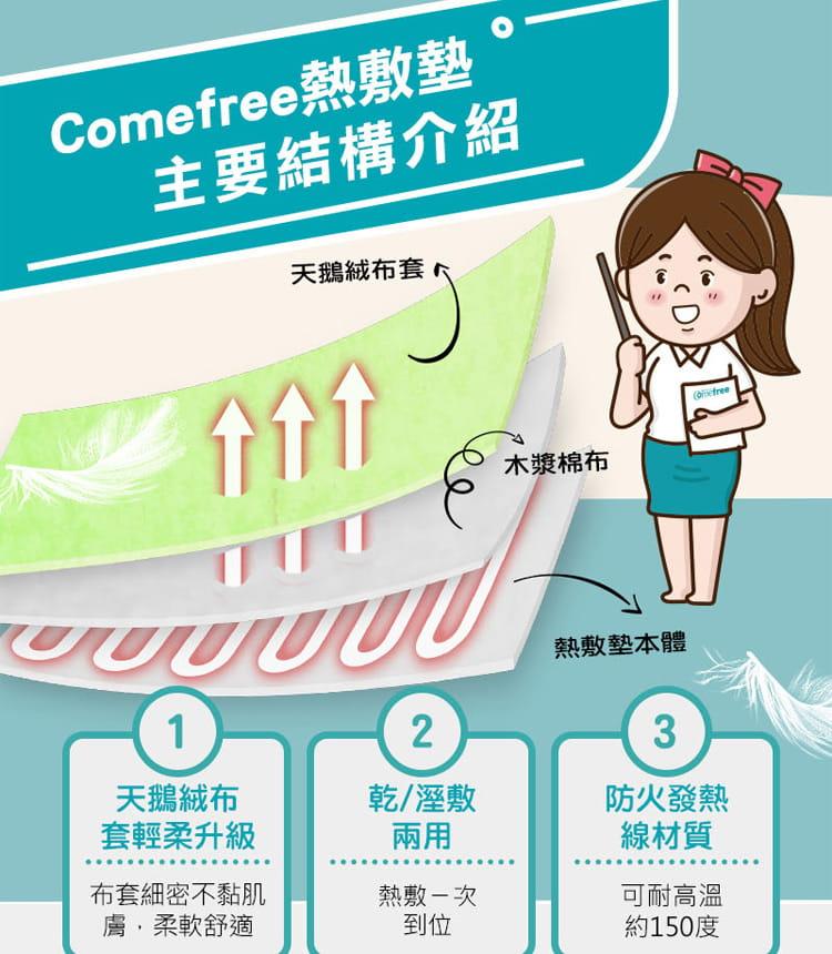 【comefree】乾溼兩用智慧型熱敷墊(關節) 台灣製 4