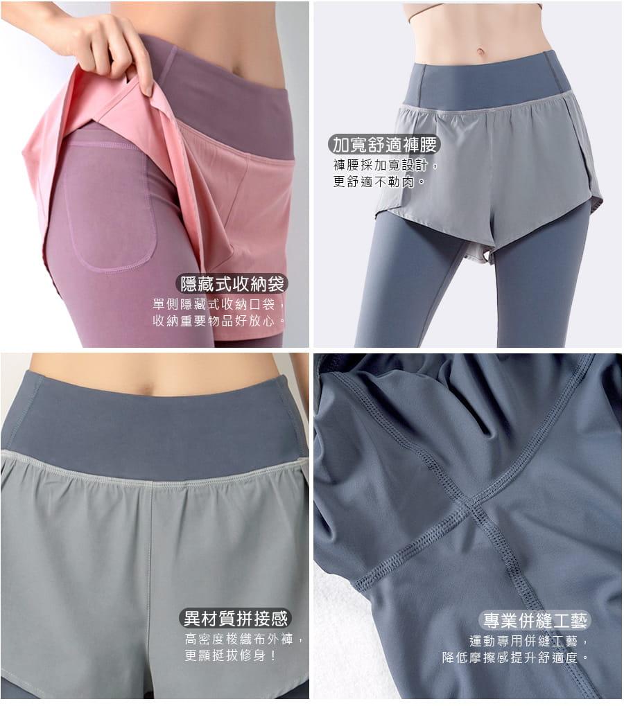【Un-Sport 高機能】多款任選-異質拼接顯瘦假兩件長褲(瑜伽/健身/路跑) 11