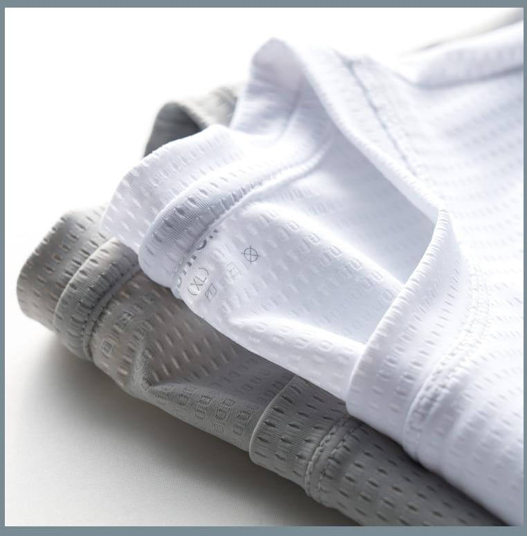 超薄涼透氣排汗速乾T恤 內搭外穿舒爽運動上衣 情侶款 網眼T恤 11
