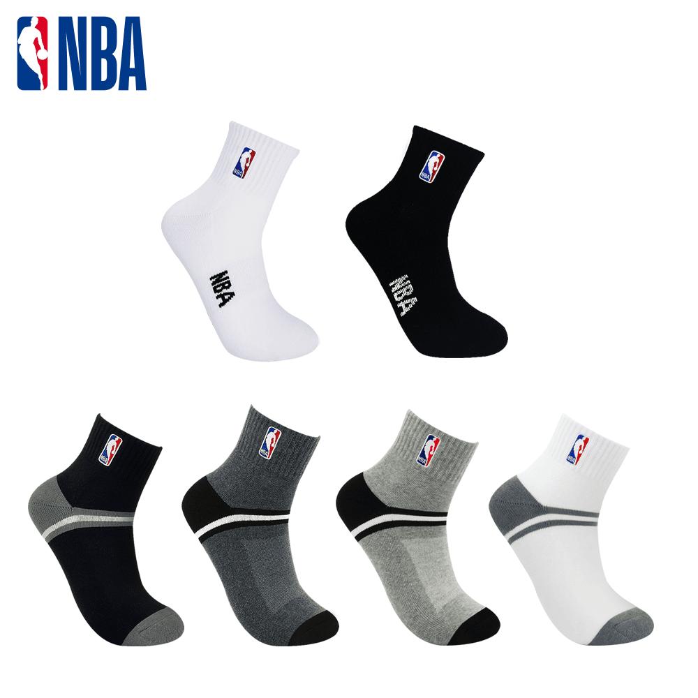 【NBA】 經典刺繡束腳底網眼毛圈短襪 0