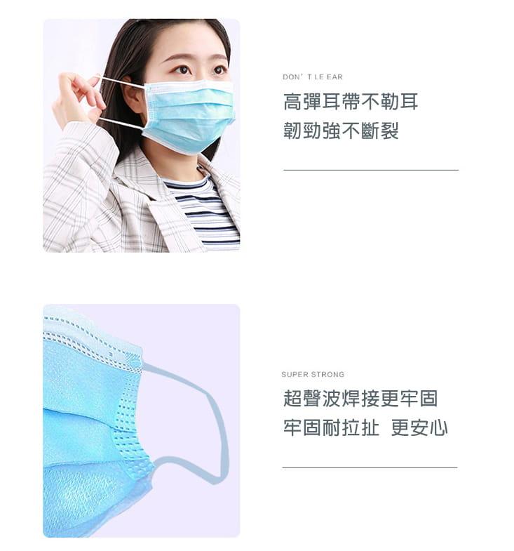 【英才星】非醫療成人兒童三層加厚口罩(粉藍/粉紅任選) 5