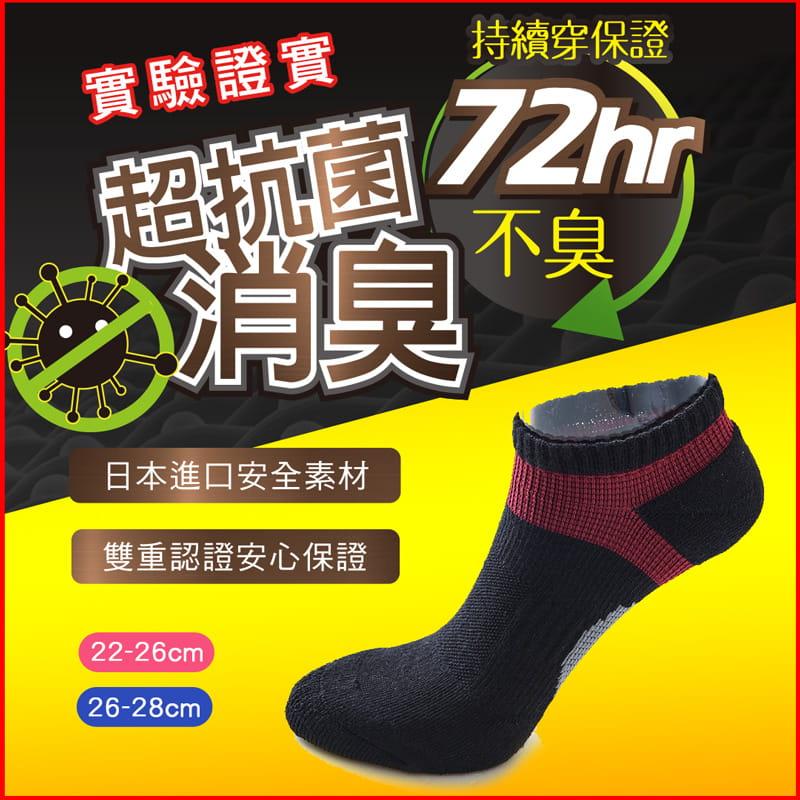 【ONEDER 旺達】超抗菌足弓氣墊襪.透氣船襪 0