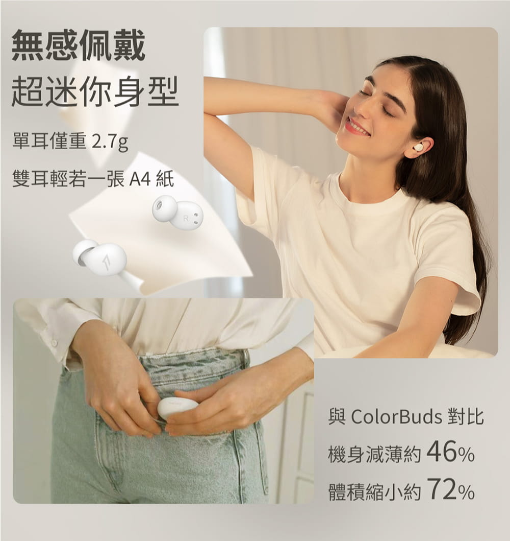 1MORE ComfoBuds Z EH601 睡眠豆真無線耳機-白色 19