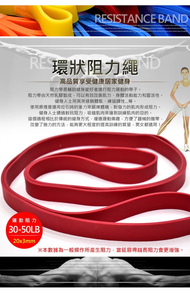 台灣製造50磅大環狀彈力帶 (LATEX乳膠阻力繩.手足阻力帶運動拉力帶.彈力繩) 2
