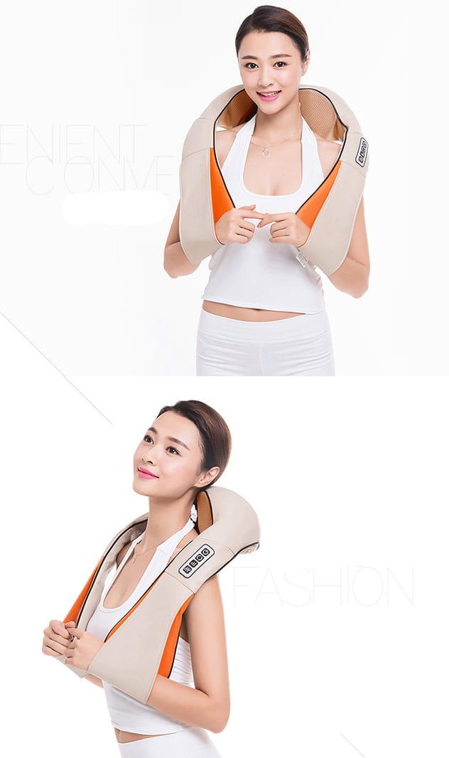 【健身大師】-愛健康6D肩頸揉捏按摩器 11
