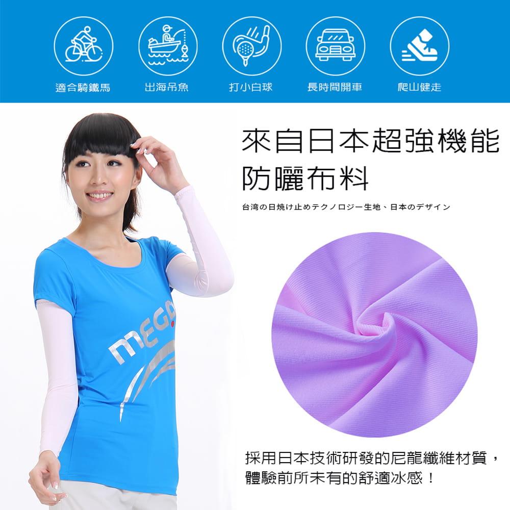 【MEGA COOUV】男女共款 防曬抗UV冰感袖套 涼感袖套(冰涼袖套 機車袖套 防曬袖套) 1