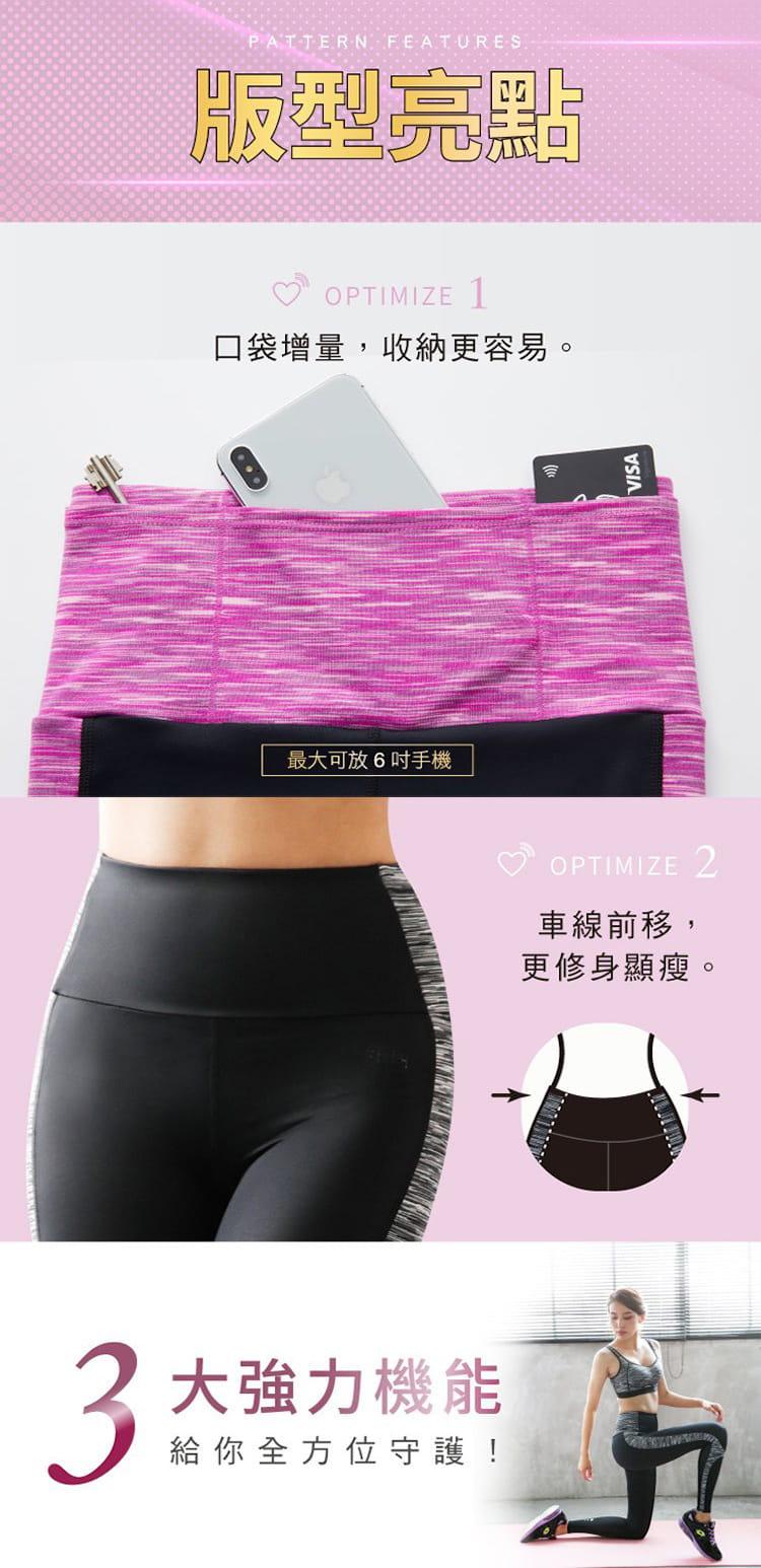 【iFit】Fitty 迷彩 護膝壓力褲(旗艦拼彩款) 5