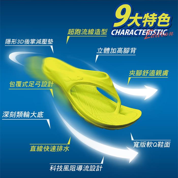 【母子鱷魚】MIT三代正宗路跑氣墊拖鞋(原廠供貨) 1