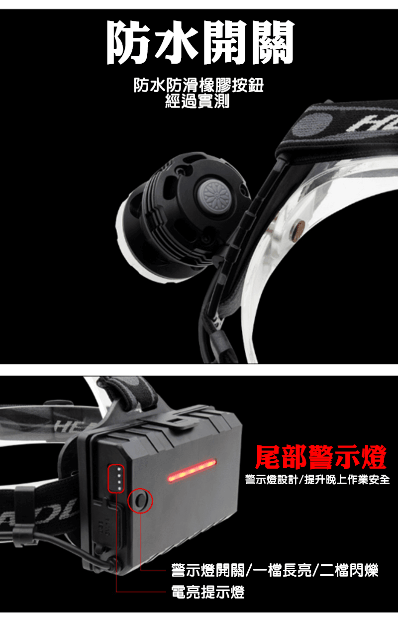 T50型變焦P70頭燈+USB線(單賣) 4