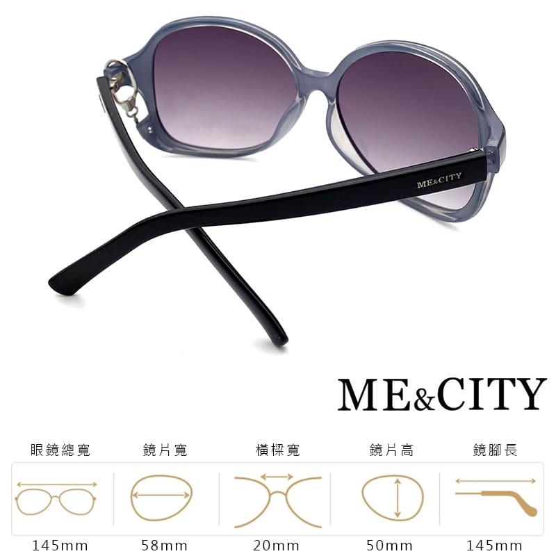 【ME&CITY】 甜美心型鎖鍊太陽眼鏡 抗UV (ME 1223 L01) 10