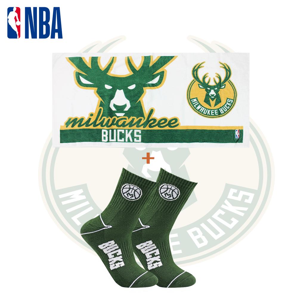 【NBA】 公鹿隊球迷裝備襪巾組合 0