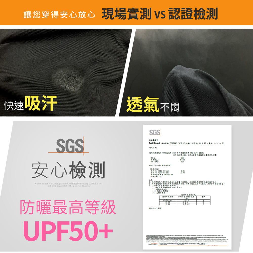 【GIAT】台灣製UPF50+防曬機能運動排汗褲(男女款) 8
