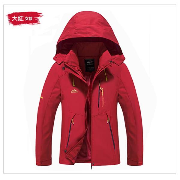 男女戶外機能防風防水衝鋒外套 15