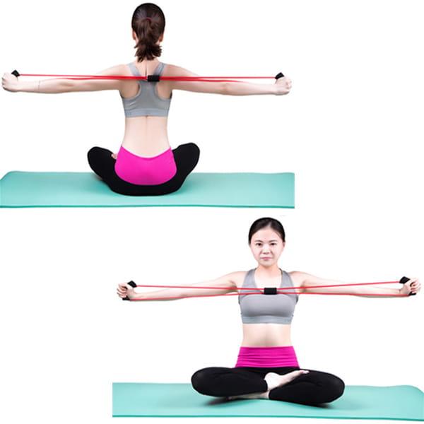 瑜珈八字繩 8字拉力器 瑜伽拉力繩 彈力拉力繩 擴胸 塑胸器 家用健身器材【SV6395】 2