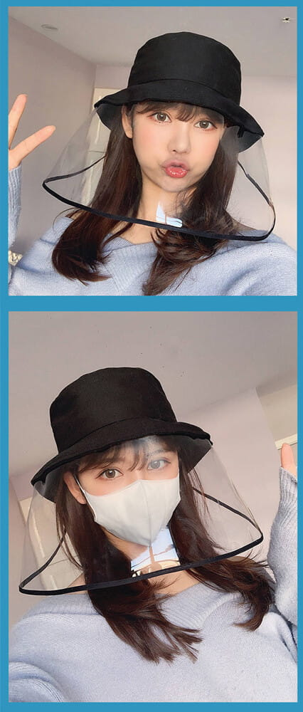【台灣現貨】防護帽 防飛沫帽 透明面罩  飛沫阻擋 防護面罩  隔離唾沫 防疫用品 15
