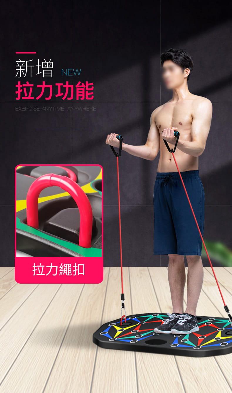 【台灣現貨】俯臥撐支架輔助器男士多功能練腹肌訓練板(22種功能) 8